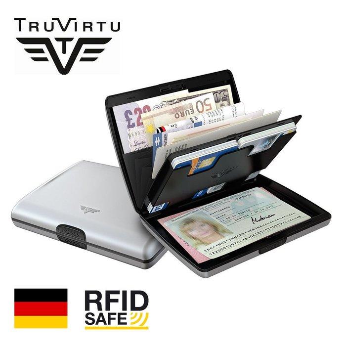 【橘子包舖】防盜錢包出國必備TRU VIRTU德國正品 防RFID/NFC防側錄防消磁鋁質皮夾 A31-011 信用卡夾