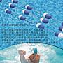 【奇滿來】游泳池泳道線- 1米 藍白浮標浮法線...