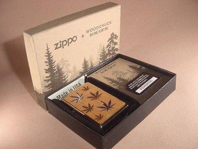 美國 Zippo 打火機29903 Woodchuck Leaves  雪松木 幻彩 雙面圖案