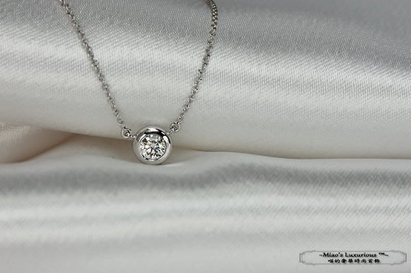 單鑽DBY系列™--閃耀馬卡龍--極高品質F~G比利時八心八箭車工天然鑽石項鍊