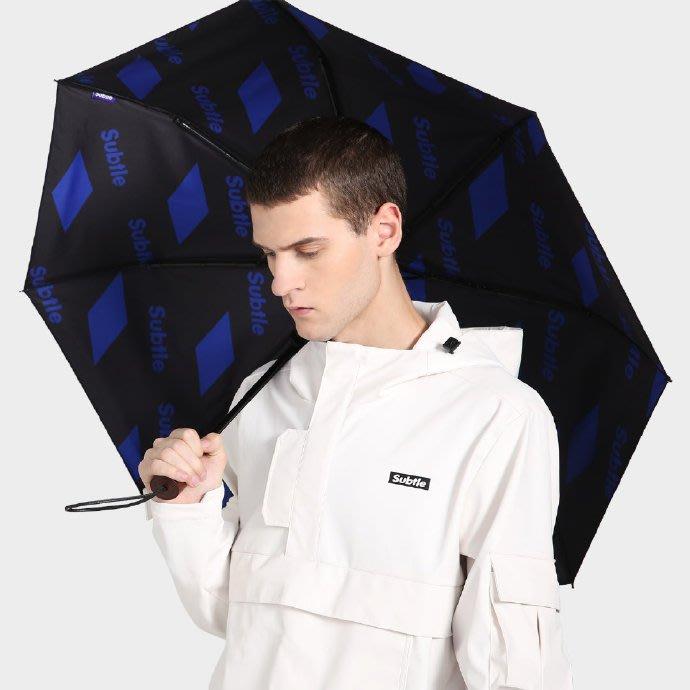 Subtle晴雨兩用傘19年最新款~573系列02方塊藍 附同花色防水傘袋