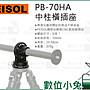 數位小兔【FEISOL PB- 70HA 中柱橫插座】底座...