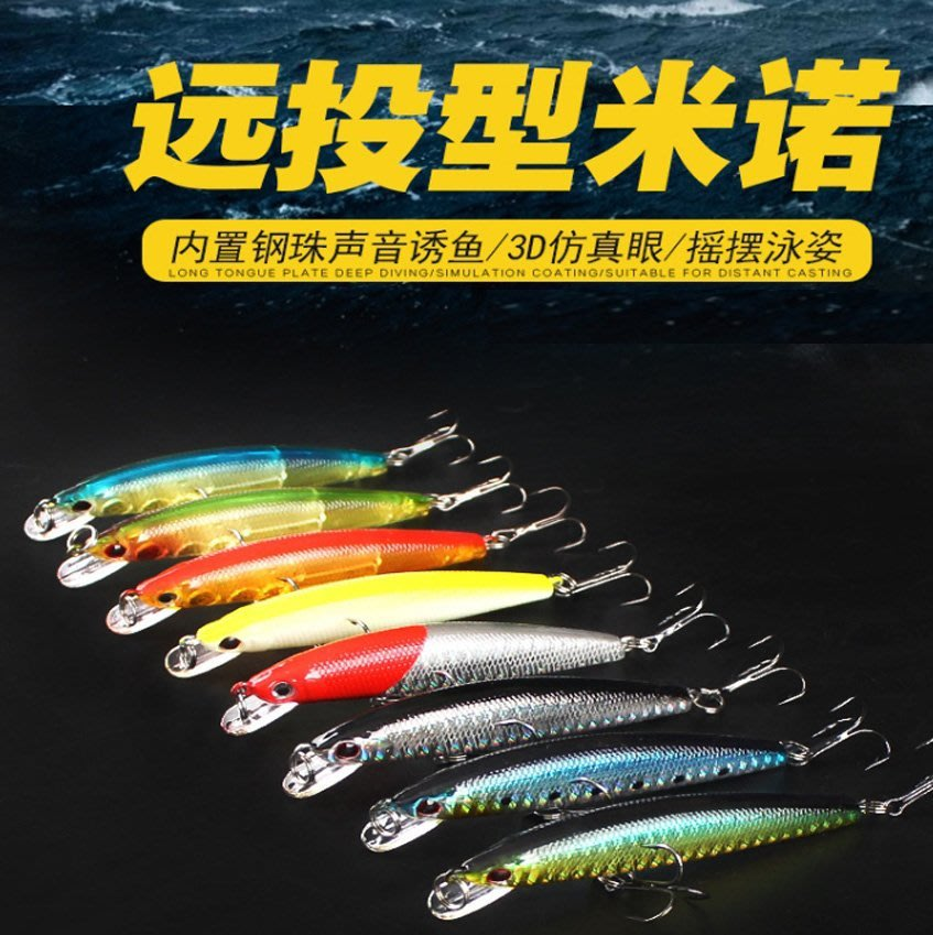~子甄彣璟~鐳射米諾8.5cm-8g浮水米諾 魚餌 硬餌 仿生餌 路亞餌 假餌 鉛筆 誘餌 擬餌 米諾 釣魚 假魚