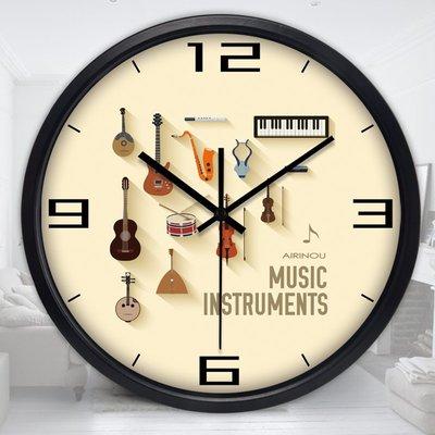 2017~靜音鐘錶掛鐘客廳創意現代簡約時鐘石英鐘掛錶臥室圓形壁鐘QDSC-16948