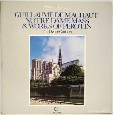 黑膠唱片 Guillaume De Machaut Notre Dame Mass - Deller Consort