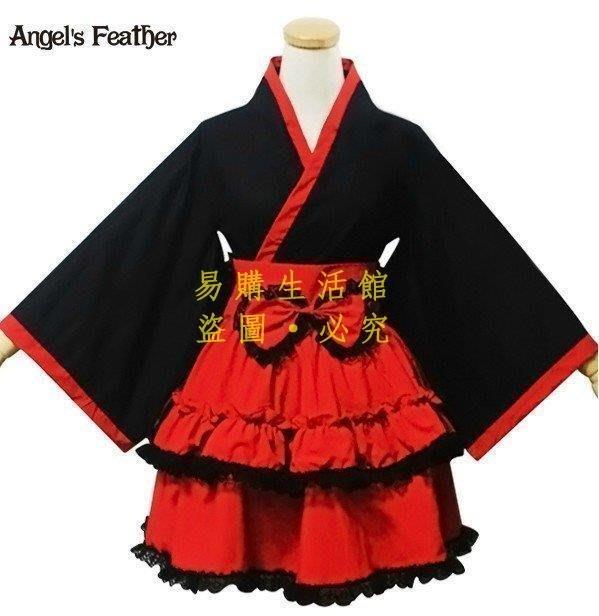 [王哥廠家直销]經典lolita黑紅和服cosplay女仆裝女仆洋裝LeGou_2105_2105
