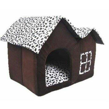 寵物用品狗窩斑點雙頂貓房子寵物窩廠家寵物狗用品