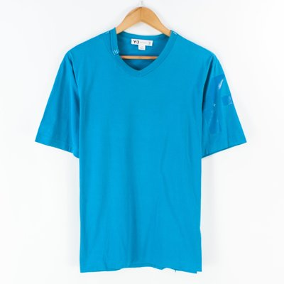 【品牌競區】Adidas Y3 泰國製 / 簡約 / 手臂Logo / 短袖T恤 / L號 ~ 5F61