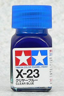 【TAMIYA X-23】油性 模型專用漆 10ml 透明藍色