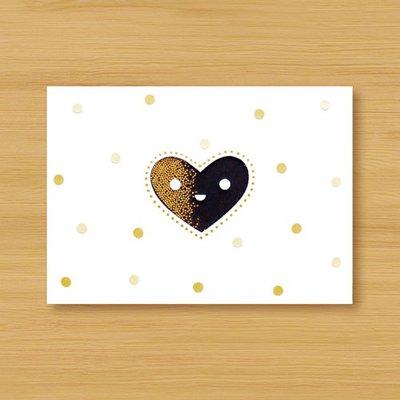 【Dino小恐龍:手創館】手工搖搖卡片&明信片:微笑愛心(情人卡、母親卡、婚禮賀卡、感謝卡、萬用卡)