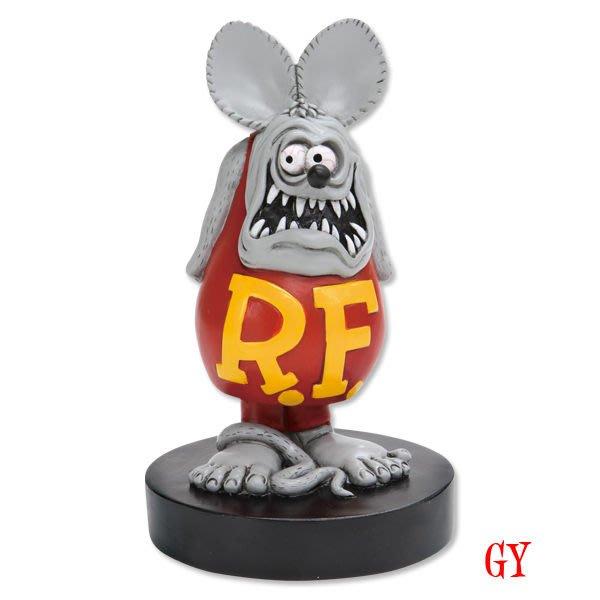 (I LOVE樂多)原版RAT FINK Bobbing Dolls屁股搖擺老鼠芬克公仔M尺寸 RF值得你收藏