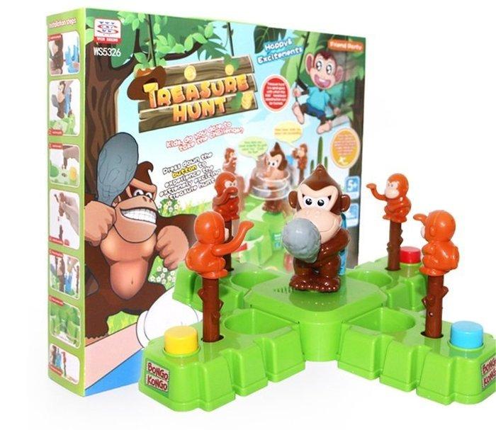 益智桌遊~奪寶奇兵~猴子搶金幣遊戲~猴子奪寶~ 親子互動桌遊~ 兒童益智遊戲~◎童心玩具1館◎