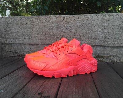 Nike Wmns Air Huarache Run PRM Hot Lava 683818-800 小紅鷹 現貨 螢光