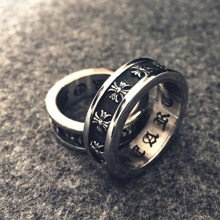 奇奇店#歐美朋克風霸氣潮人男士十字架復古鈦鋼戒指男女情侶食指尾戒指環#男生飾品#項鏈#戒指#男生項鏈#手鏈