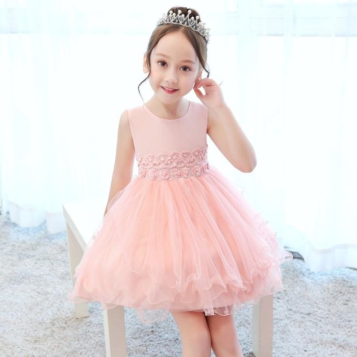 長袖洋裝秋冬裝新款女童洋裝秋冬季網紗無袖洋裝兒童背心裙