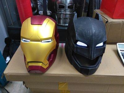 Batman Helmet LED cosplay 蝙蝠俠對超人頭盔 可穿戴 可著燈
