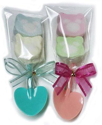 娃娃屋樂園~熊愛你鏟子(產子)棉花糖喜糖 每包7元/婚禮小物/情人節花束/喜糖籃