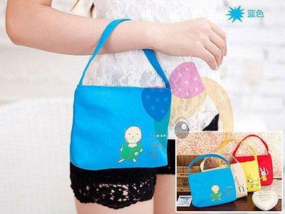 新款韓版手包 可愛動物輕鬆派 帆布手拎/手拿/鑰匙/化妝包 隨機出貨