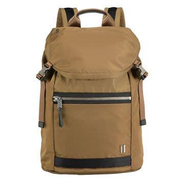 SUMDEX 14.1吋+10吋平板 城市潮流後背包NON-793TK柚木色