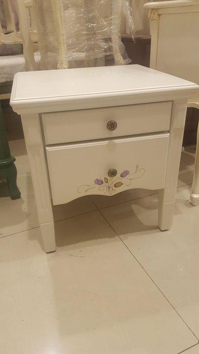 韓式田園彩繪床頭櫃 鄉村風 床頭櫃