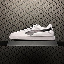 "Puma x Shantell Martin Clyde 黑白 百搭 ""涂鴉小人白黑""休閒滑板 365894-01 男女鞋"