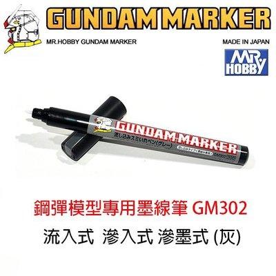 【模型王】MR.HOBBY 郡氏 GSI 鋼彈麥克筆 GUNDAM MARKER 塑膠模型 滲墨式 墨線筆 GM302