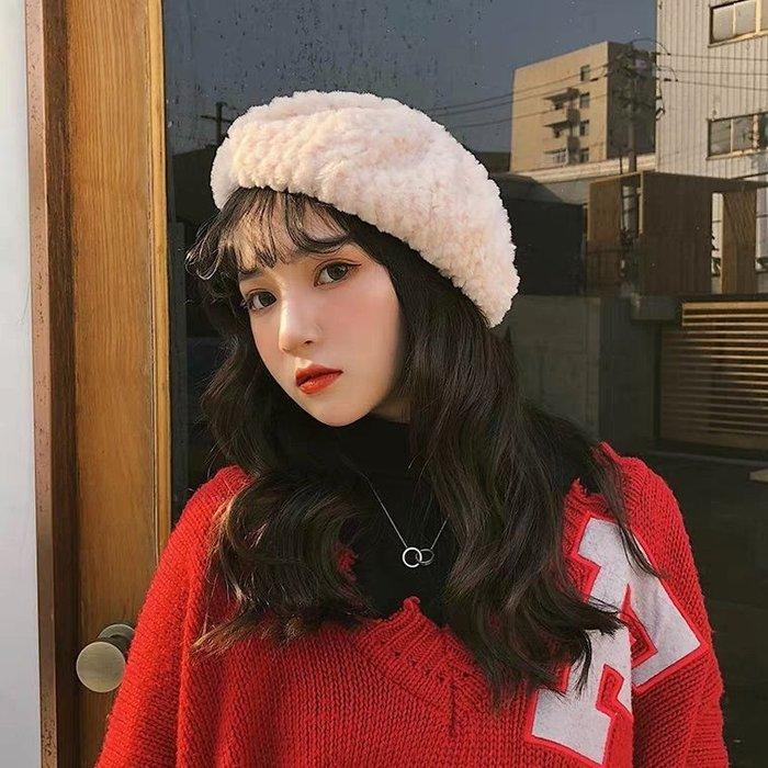 HAT 韓國熱賣 秋冬甜美羔羊絨畫家帽 八角帽 現貨