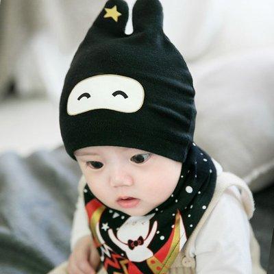 夏季嬰兒帽子3-6-12個月寶寶棉質套頭帽男女童韓版新生兒睡覺帽子