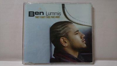 【鳳姐嚴選二手唱片】 Ben Lummis / 單曲:THEY CANT TAKE THAT AWAY