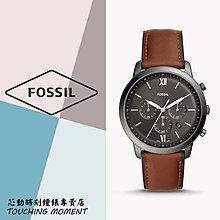 《聊聊享優惠》FOSSIL 流行時尚 三眼計時皮革錶 FS5512