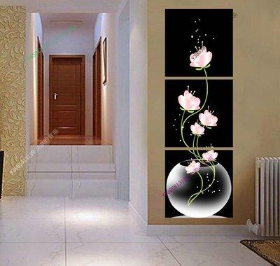 【50*50cm】【厚1.2cm】粉色蓮花花卉-無框畫裝飾畫版畫客廳簡約家居餐廳臥室【280101_022】(1套價格)