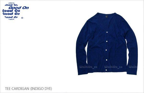 WaShiDa【golt1101i】Good On 日本品牌 藍染 自然染 針織衫 純棉 罩衫 CARDIGAN
