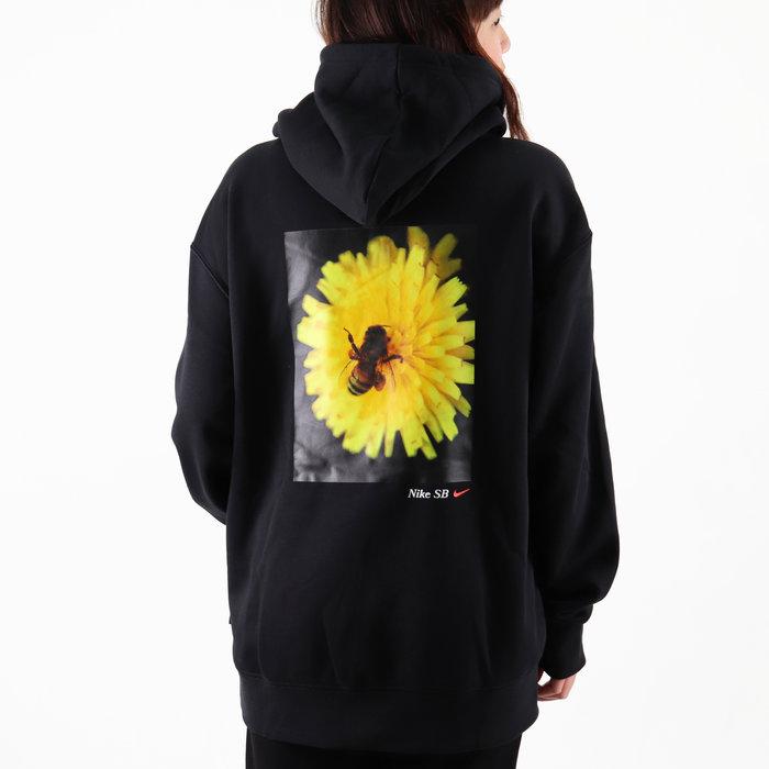 [歐鉉]NIKE SB BEE HOODIE 黑色 蜜蜂 刷毛 連帽 帽T 男生 DD2094-010