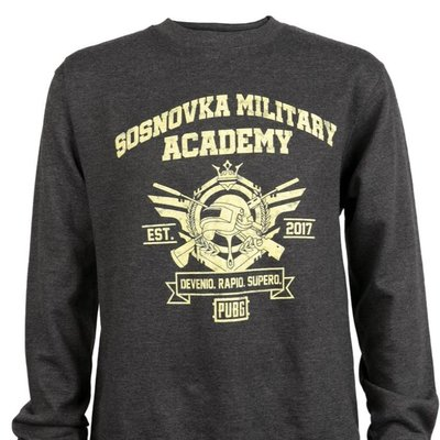 【丹】J!NX_PUBG MILITARY ACADEMY CREW NECK SWEATS 絕地生存 吃雞 T恤 男版