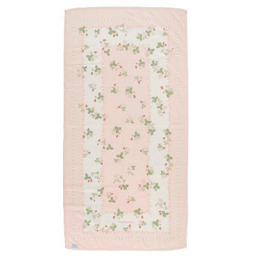 ~~凡爾賽生活精品~~全新日本進口WEDGWOOD小紅莓造型粉紅色純棉浴巾~日本製