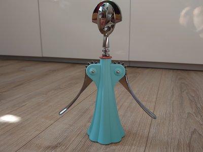 「斷捨離 出清拍賣」全新 盒裝 ALESSIAnna G. 安娜紅酒開瓶器(淺藍色)