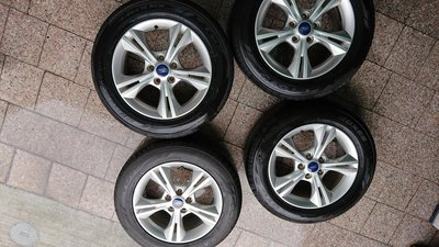 Ford FOCUS 16吋原廠5孔鋁圈輪框含輪胎一組共四顆總價