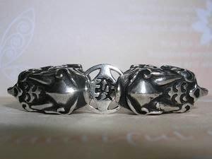 琥珀貓~【925純銀材料配件】連結配件~N9946~咬錢發財貔貅~一個