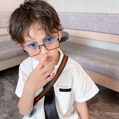 【AMAS】-夏季新款男童太陽鏡潮小孩方框時尚眼鏡女童遮陽防紫外線墨鏡