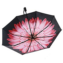 遮陽傘Banana小黑傘防曬紫外線黑膠太陽傘三折疊女遮陽傘雙層晴雨傘UPF