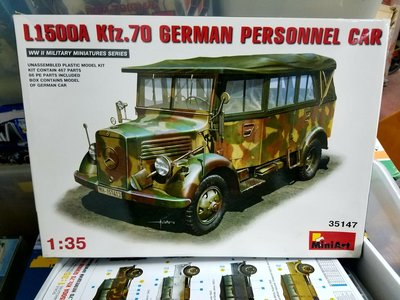 MiniArt-35147-1/35-L1500A (Kfz.70) -German Personnel Car -加4元-M-300