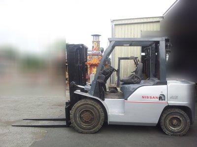 【日日興】1667 日本進口中古柴油堆高機 NISSAN 4.5噸 3米 自排 含進口證明.保固