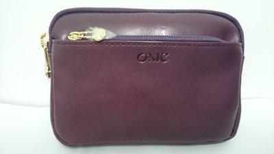 小田井  OMC  OMNIA COLORARE 精品~95020原皮浪漫紫色 多功能多拉鍊實用型拉鏈零錢包(可放鑰匙)