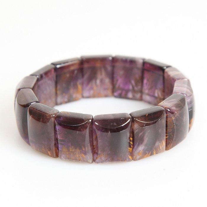 嚴選高品天然紫鈦手排~90.6g  21mm