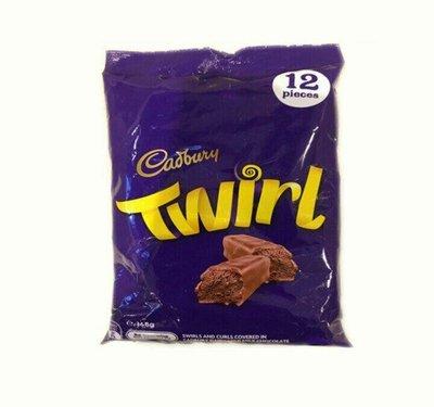 吉百利 Cadbury twirl share pack  巧克力分享包/1包/10入/168g