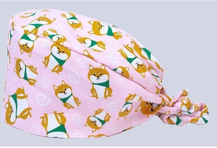 手術室印花帽子女醫生護士工作帽包頭巾手術帽月子帽男
