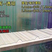 網建行 ㊣PC 角浪板 厚度1.5mm 每尺92元 另有2mm~ 鐵皮屋頂 陽台 遮雨棚 另有~纖維板 浪板 遮陽板