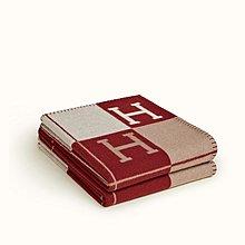 [現貨在台]Hermes  Avalon III Throw Blanket 愛馬仕紅 cashmere 羊毛毯 沙發毯 新居落成禮物