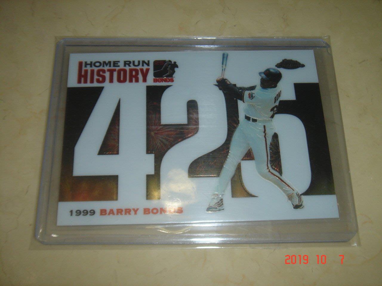 美國職棒 Giants Barry Bonds 2006 Topps Chrome HR History #425球員卡