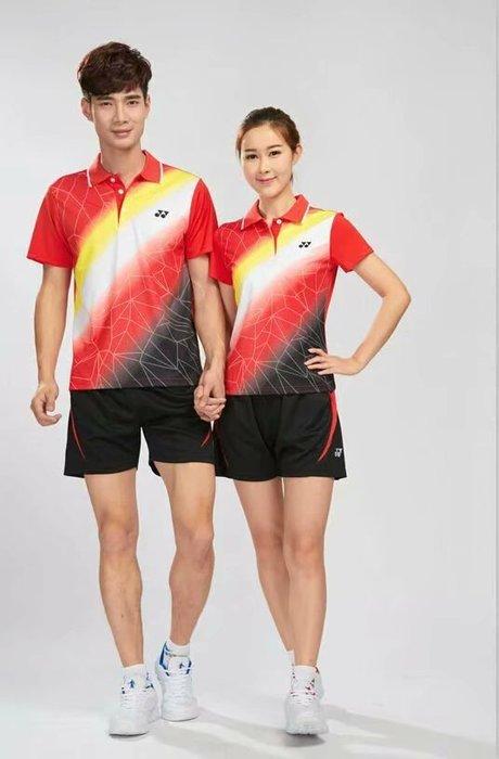 Yonex羽球衣勝利羽球衣YY羽球衣 羽毛球服套裝男女夏短袖短褲速幹羽毛球裙褲比賽網球運動衣服